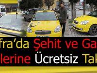 Bafra'da Şehit ve Gazi Ailelerine Ücretsiz Taksi