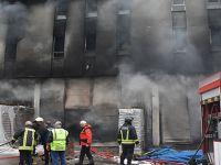 Tekkeköy'de Fabrika Yangını