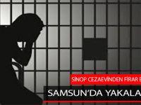 Sinop'tan Firar Etti, Samsun'da Yakalandı