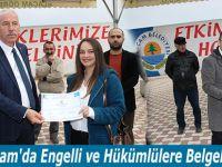 Alaçam'da Engelli ve Hükümlülere Belgeleri Verildi