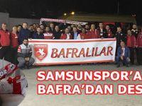 Bafra'dan Samsunspor'a Taraftar Desteği