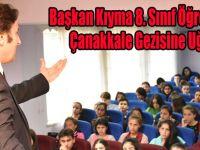 Başkan Kıyma 8. Sınıf Öğrencilerini Çanakkale Gezisine Uğurladı