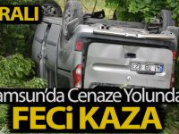 Samsun'da kamyonet şarampole devrildi: 7 yaralı