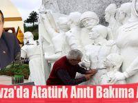 Havza'da Atatürk Anıtı Bakıma Alındı