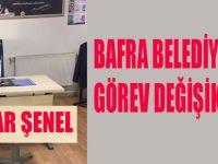 Bafra Belediyesi'nde yeni müdür görevine başladı.