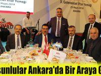 Samsunlular Ankara'da Bir Araya Geldi