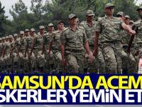 Samsun'da Acemi askerler yemin etti