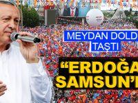 Cumhurbaşkanı Erdoğan Samsun'da Muhteşem karşılandı