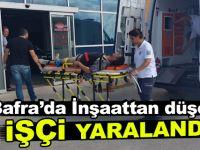 Bafra'da İnşaattan düşen işçi yaralandı