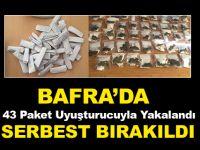 Bafra'da 43 Paket Uyuşturucuyla Yakalandı Serbest Kaldı