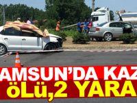 Samsun'da iki otomobil çarpıştı: 2 ölü, 2 yaralı