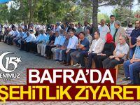 Bafra'da Şehitlik Ziyareti