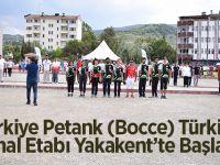 Türkiye Petank Bocce Türkiye Final Etabı Yakakent'te Başladı