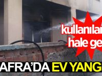 Bafra'da Ev Yangını:Kullanılamaz Hale Geldi!