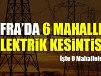 Bafra'da 6 Mahallede Elektrik Kesintisi