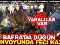 Bafra'da Düğün Konvoyunda Feci Kaza Yaralılar Var!