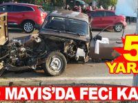 19 Mayıs'da Düğün Konvoyu Kaza Yaptı:5 Yaralı