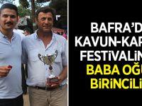 Karpuz-Kavun Festivalinde Baba Oğul Birinciliği