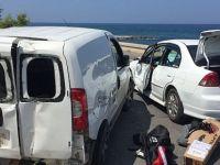 Bafralı gençler Kaza yapı 7 yaralı