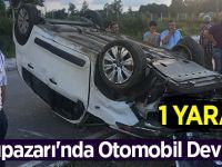Salıpazarı'nda Otomobil Devrildi:1 Yaralı