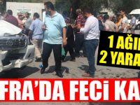 Bafra'da Feci Kaza 1 Ağır 2 Yaralı