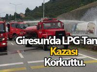 Giresun'da LPG tankeri kazası