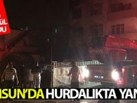 Samsun'da Hurdalıkta Yangın Çıktı: 2 Ev Kül Oldu