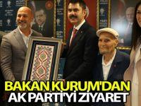 BAKAN KURUM'DAN AK PARTİ'Yİ ZİYARETİ