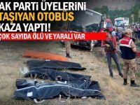 AK PARTİ KAFİLESİ KAZA YAPTI 4 ÖLÜ