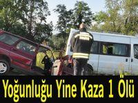 Bayram Yoğunluğu Yine Kaza 1 Ölü 2 Yaralı