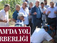 ALAÇAM'DA YOL SEFERBERLİĞİ