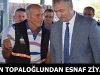 Belediye Başkanı Osman Topaloğlu Pazar Esnafını Ziyaret Etti.
