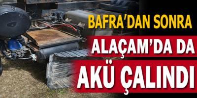 Bafra'dan Sonra Alaçam'da da Akü Çalındı !!!