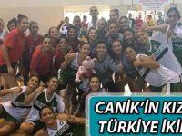 Canik'in kızları Türkiye ikincisi