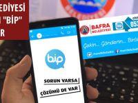 """BAFRA BELEDİYESİ SORUNLARI """"BİP"""" İLE ÇÖZÜYOR"""