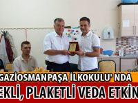 GAZİOSMANPAŞA İLKOKULU' NDA YEMEKLİ, PLAKETLİ VEDA ETKİNLİĞİ