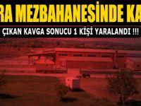 BAFRA MEZBAHANESİNDE KAVGA; 1 YARALI !!!