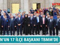 SAMSUN'UN 17 İLÇE BAŞKANI TBMM'DE