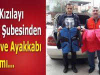 Türk Kızılayı Bafra Şubesinden Giysi ve Ayakkabı Yardımı