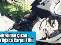 Kontrolden Çıkan Araba Ağaca Çarptı 1 Ölü