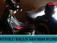 ÇALINTI MOTOSİKLET BEKÇİLER TARAFINDAN BULUNDU