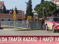 BAFRA'DA TRAFİK KAZASI; 1 HAFİF YARALI