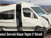 Havza Öğrenci Servisi Kaza Yaptı 5 Yaralı