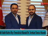 Türkiye Gençlik Vakfı Bafra İlçe Temsilcisi Olarak Dr. Serkan Yavuz Atandı