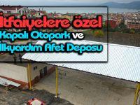 Gerze'de İtfaiyelere Özel Kapalı Otopark ve İlkyardım Deposu