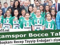 Alaçamlı küçük sporcular Cumhurbaşkanı Erdoğan'ı ziyaret etti