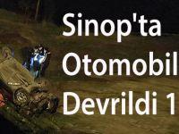 Sinop'ta Otomobil Devrildi 1 Ölü