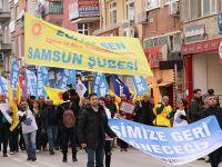 KESK Samsun'da Bölge Mitingi Yaptı