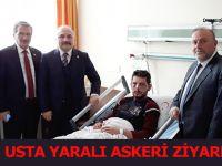 Ustadan Hain Saldırıda Yaralanan Samsunlu Askere Ziyaret