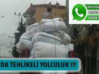 BAFRA'DA TEHLİKELİ YOLCULUK !!!